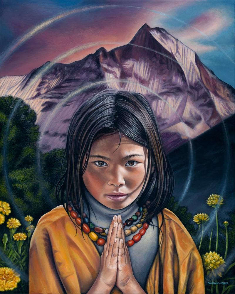 tibetan-girl-painting