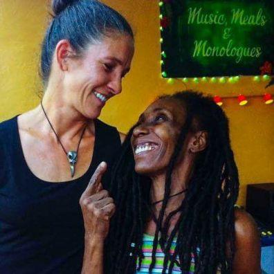 ALESSANDRA MONDOLFI & AJHANOU UNEEK AT RARA ROCK ROOTS RASIN'S MUSIC, MEALS & MONOLOGUES EVENT.